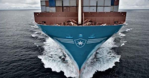 750 container rơi khỏi tàu của Maersk trong một cơn bão ở Thái Bình Dương - Maersk Essen