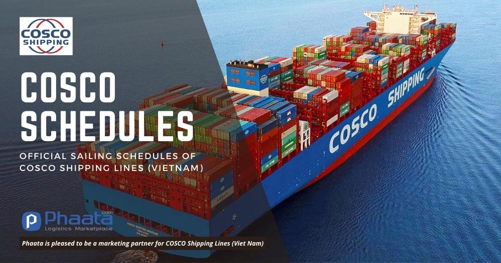 Lịch tàu COSCO: Việt Nam - Trung Đông & Châu Đại Dương (Tuần 17/2021)