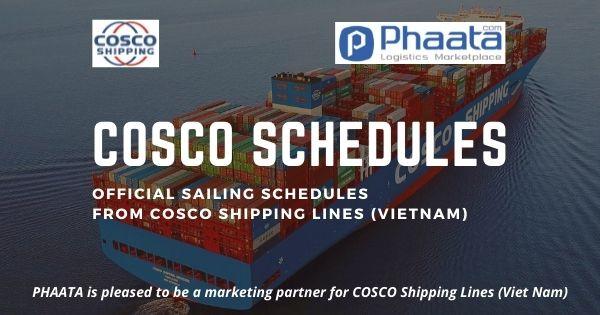 Lịch tàu COSCO: Việt Nam - Bắc Mỹ (Tháng 7-2021)