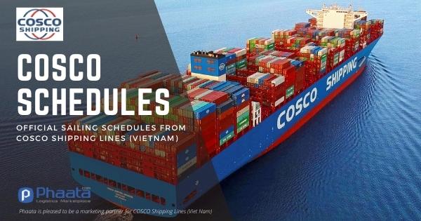 Lịch tàu COSCO: Việt Nam - Châu Á (Tháng 8-2021)