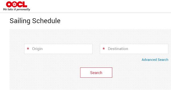 OOCL-Schedules