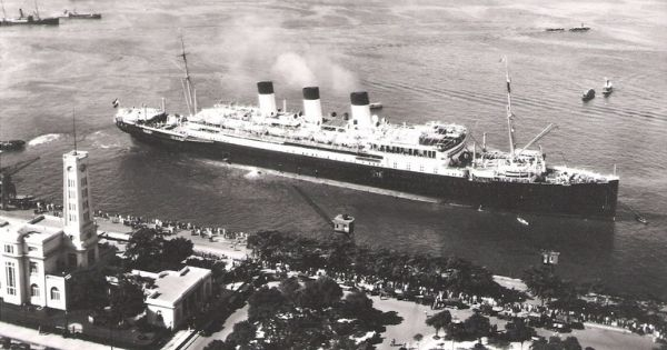 Cap Polonio starts her maiden voyage to South America in February 1922