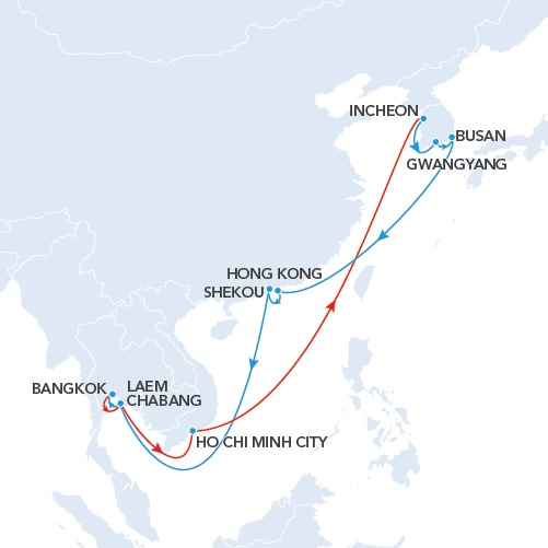 NKT service (New-Korea-Thailand) - CNC line