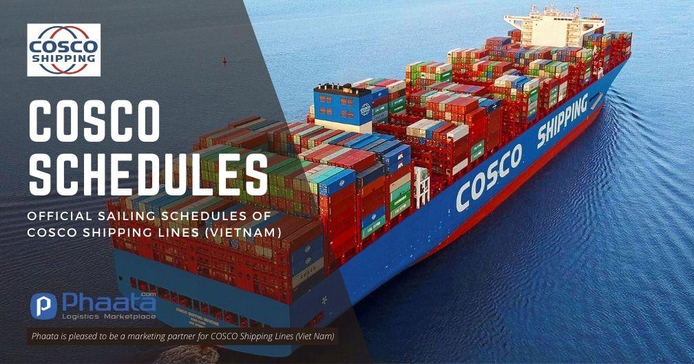 Lịch tàu hãng tàu COSCO (sailing schedules)