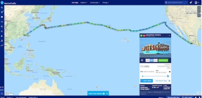 Tau-Maersk-Essen-chuyen-huong-khoi-cang-Los-Angeles-den-cang-Lazaro-Cardenas-Mexico